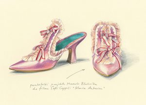 Shoes designed for Marie Antoinette (2006) by Manolo Blahnik, drawing by Agata Marszałek