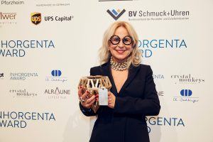 "inhorgenta-munich-2018_jf_1766 Gewinner Kategorie ""Fine Jewelry – Brand of the Year"" Nanis, Laura Bicego"