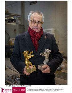 5_Festival Director Dieter Kosslick with the Golden and Silver Bear