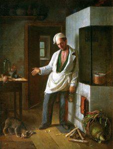 Сергей Иванович Грибков (1822-1893) - Кот и повар. Из басни И.А. Крылова (1854)
